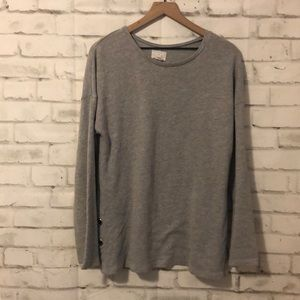 Caslon grey crew neck with detail
